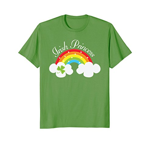 Irish Princess St Patricks Day Rainbow Shamrock T-shirt