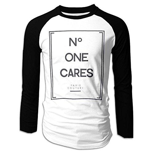 SuperBlu One Cares Mens Long Sleeve Raglan Tshirts Black S