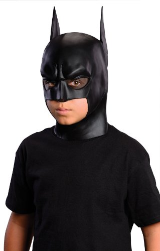 Rubie's Batman: The Dark Knight Rises: Batman Full Mask, Child Size (Black) (Face Dark Knight Two)
