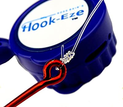 Hook-Eze NEW Larger Model Reef & Blue Water - Safe Fishing Hook Cover Knot Tying Tool - Cover 2 Poles + Line Cutter