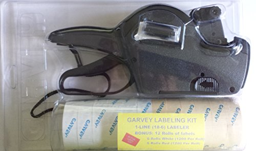 GARVEY 18-6 Pricing Gun Kit, includes labels and extra In...