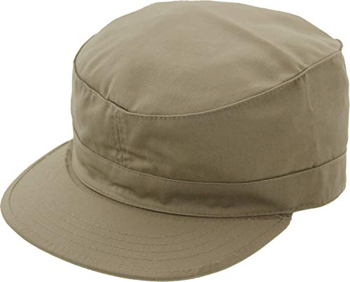 Army Universe Military Field Patrol Camouflage Cap Adjustable Tactical Fatigue Hat (Khaki) ()
