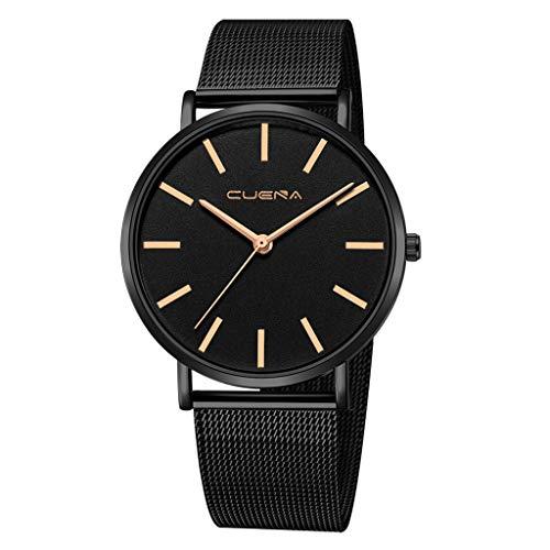 BOOMJIU Mens Stainless Steel Watches Men Luxury Waterproof Date Casual Analog Wrist Watch with Solid Dial (B)