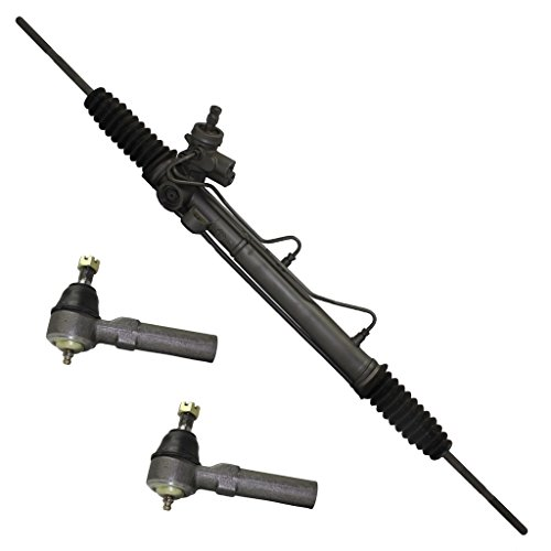 Detroit Axle Complete Power Steering Rack & Pinion Assembly [WITHOUT Sensor] + All 4 Inner & Outer Tie Rod (Neon Power Steering Rack)