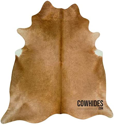 Natural Cowhide Area Rugs Solid Beige Large