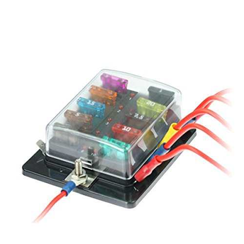 41s8mFc%2BnlL amazon com winomo 10 way blade fuse holder box automotive fuse Camper Fuse Panel at n-0.co
