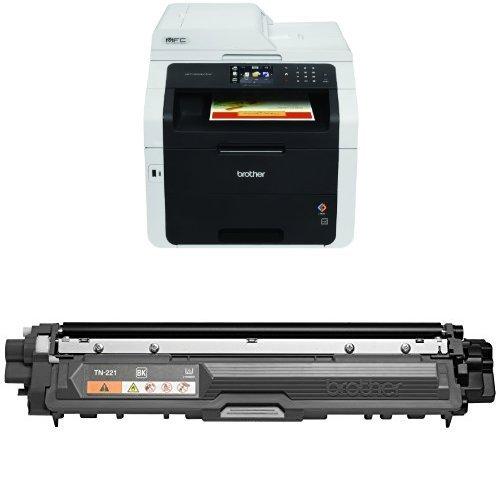 (Brother MFC9330CDW Wireless Printer and Brother TN221BK Standard Yield Black Toner Cartridge)