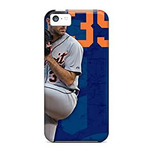 Durable Hard Phone Covers For Iphone 5c (Ovh4332YDjT) Support Personal Customs Vivid Detroit Tigers Skin
