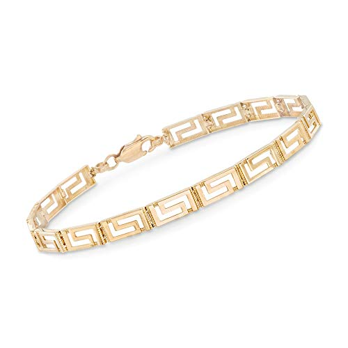Ross-Simons 14kt Yellow Gold Greek Key Bracelet