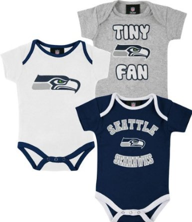 - Reebok Seattle Seahawks Newborn Tiny Fan 3-Piece Creeper Set (6-9 mos)