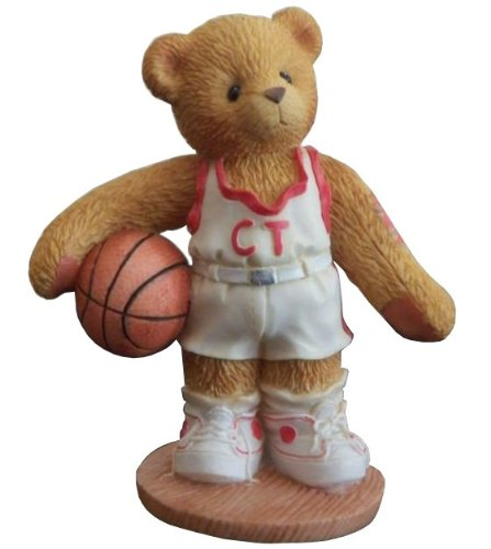 Cherished Teddies Larry 1997 Collectible Basketball Player Figurine - Your My Shooting ()