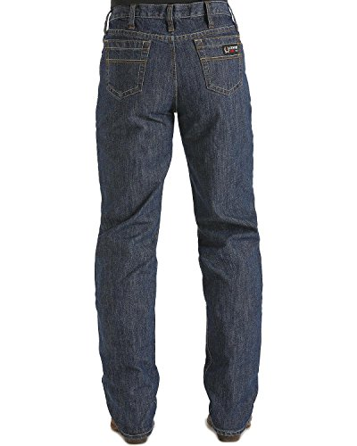 Cinch Men's FR White Label Relaxed Fit Jean, Dark Rinse Indigo, 34W x 34L