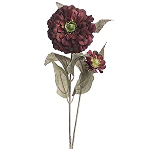 Factory Direct Craft Group of 10 Artificial Autumn Black Raspberry Zinnia Floral Sprays for Crafting, Creating and Embellishing 35