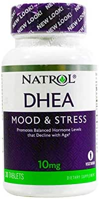 Natrol DHEA, 100% Vegetarian, 10mg Tablets, 30-Count (Pack of 2)