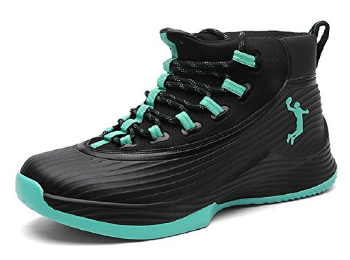 Jiye Mens Prestanda Basketskor Utomhus Andas Mode Sneakers Black Moon