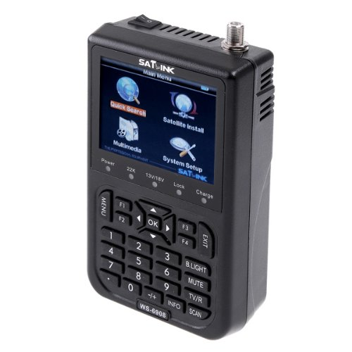 "BestSelect SATlink WS-6908 3.5"" DVB-S FTA Professional Digital Satellite Signal Finder Meter Skybox Openbox azamerica azbox bravissim"