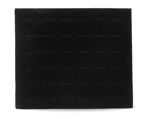 Foam Ring Pad Half Size Black Tray Inserts Jewelry Display (Display Ring Jewelry Foam Insert)