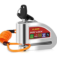 Sturdy and durable              The motorcycle lock is made entirely of metal which is both sturdy and durable.                Intelligent anti-theft              When the lock sounds a beep,it indicates that the alarm was ins...