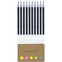 Uni-ball UMR-1-28 Refills for Signo Gel Ink Ballpoint Pen, UM-151 DX, 0.28mm, Black Ink, 10-Pack, Sticky Notes Value Set
