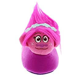 Trolls Kids Sock Top Slippers (7/8 M US Toddler, Poppy Purple)
