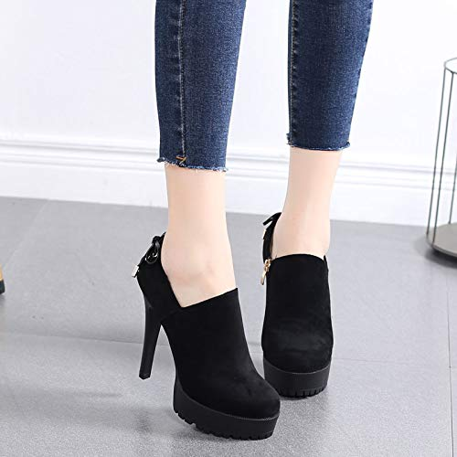 LBTSQ shoes wild thin boots 11cm heel heel Thirty single Waterproof bare shoes shoe four table high high heel super 6wn06Br1q