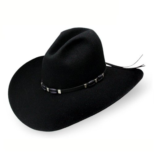 Resistol Men's 2X Cisco Felt Cowboy Hat Black 7 1/4 by Resistol