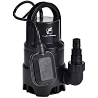 FLOTOOL 400W Electric Small Submersible Pump with Float Switch 7500L/H, Plastic Sump Pump, Dirty/Clean Submersible Water Pump for Water Transfer, Garden Irrigation, and Draining Pool