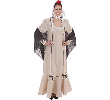 Creaciones Llopis Disfraz de Chulapa Beige para Mujer ...