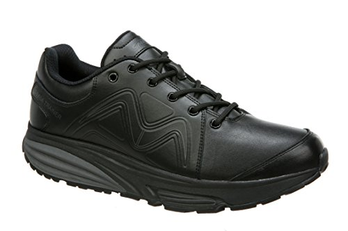 MBT Shoes Men's Simba Trainer Athletic Shoe: Black/Black/Leather 11 Medium (D) Lace Mbt Fitness Shoes