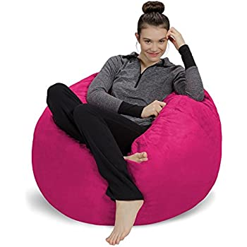 Amazon Com Flash Furniture Oversized Solid Light Pink