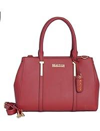 KN1860 Triple Entry Harriet Satchel Handbag (Red)
