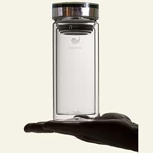 Aquaovo Therm-O - Botella isotérmica con filtro de té desmontable (doble pared de vidrio, 50 cl)