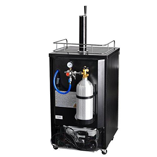 SMETA Freestanding Draft Beer Dispenser with Beer tower Beer keg cooler refrigerator 4.9 cu ft,Stainless steel by SMETA (Image #4)