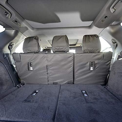 UK Custom Covers SC324B Tailored Heavy Duty Waterproof Rear Seat Covers Black