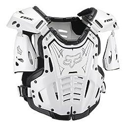 Fox Racing Airframe Youth Boys Roost Deflector MX/Off-Road/Dirt Bike Motorcycle Body Armor - White/Black / Medium