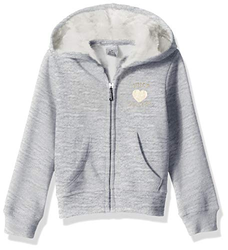 Juicy Couture Girls' Little Hoody, Gray, 5 ()