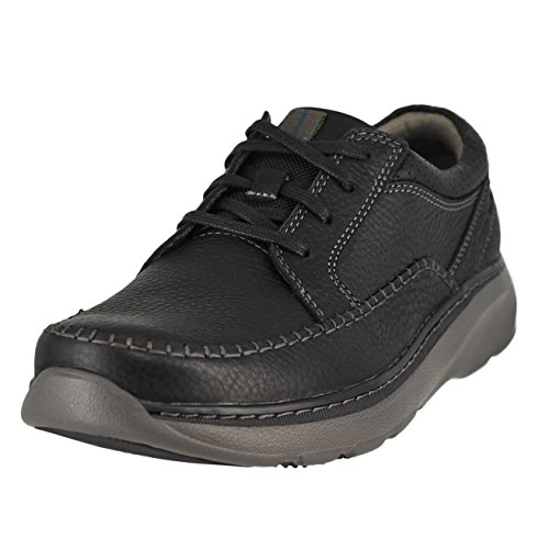 CLARKS Men's Charton Vibe Black Leather 9.5 D - (Clarks Lightweight Oxfords)