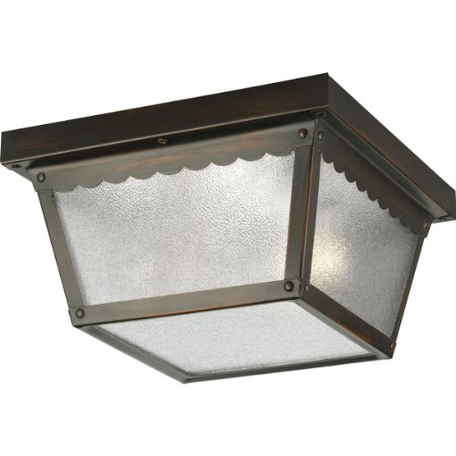 Progress Lighting 2 Light Outdoor Antique Bronze Flush Mount