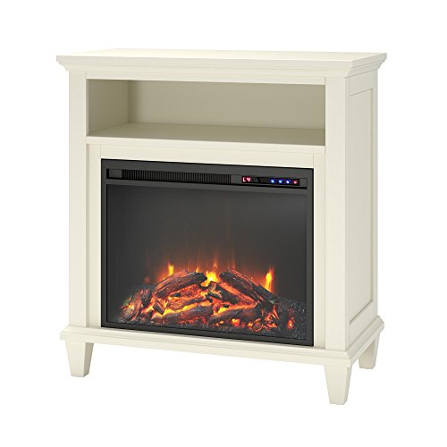 Ameriwood Home Ellington Electric Fireplace Accent Table TV Stand for TVs up to 32'', Ivory by Ameriwood Home