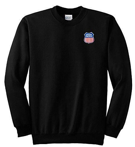 (Union Pacific Logo Crew Neck Sweatshirt Black Adult XL [47])