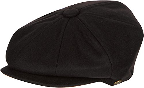 (Sakkas NSB1595 Vintage Style Wool Blend Newsboy Snap Brim Cap - Brown - M)