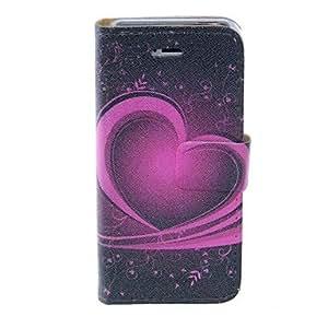CECT STOCK Kinston Heart Of The Art PU Leather Case cuerpo completo con soporte para iPhone 5/5S