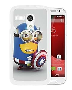 Despicable Me with Captain America 18 White New Design Motorola Moto G Protective Phone Case
