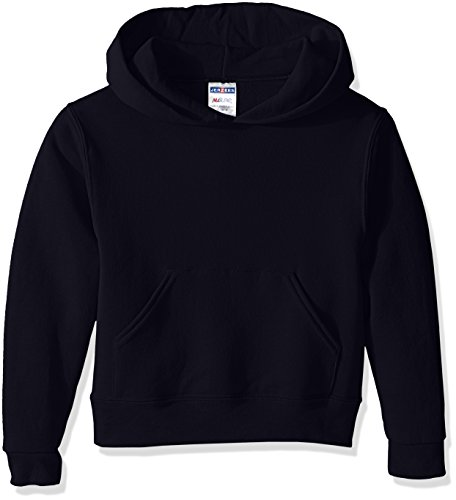Jerzees Youth Pullover Hood, Black, Large