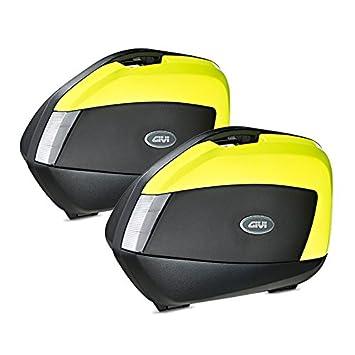 Juego de maletas laterales Honda CBF 600 S 04-13 Givi Monokey V35NTFL negro / neón-amarillo 35 litro: Amazon.es: Coche y moto