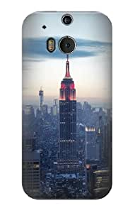 S0859 Empire State Case Cover for HTC ONE M8