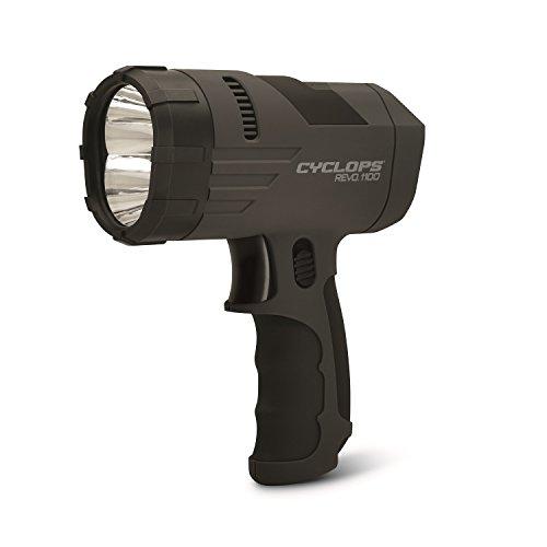 Cyclops Revo 1100 Lumen Handheld Spotlight with Rechargeable Battery (Rechargable Spotlight Handheld)