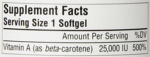 Source Naturals Beta Carotene 25000IU Antioxidant Protection Against Free Radicals 250 Softgels Discount