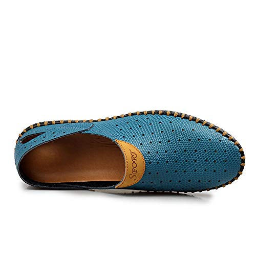En Mode Chaussure Rondes Respirant Orteil Lazy Cuir fei Loisirs Sauvage Mocassins Pour 44 Chaussures Homme blue Confortable Gpf Pois qOwIz5Z