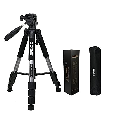 Zomei Q111 Travel Tripod Lightweight with Pan Head 1/4